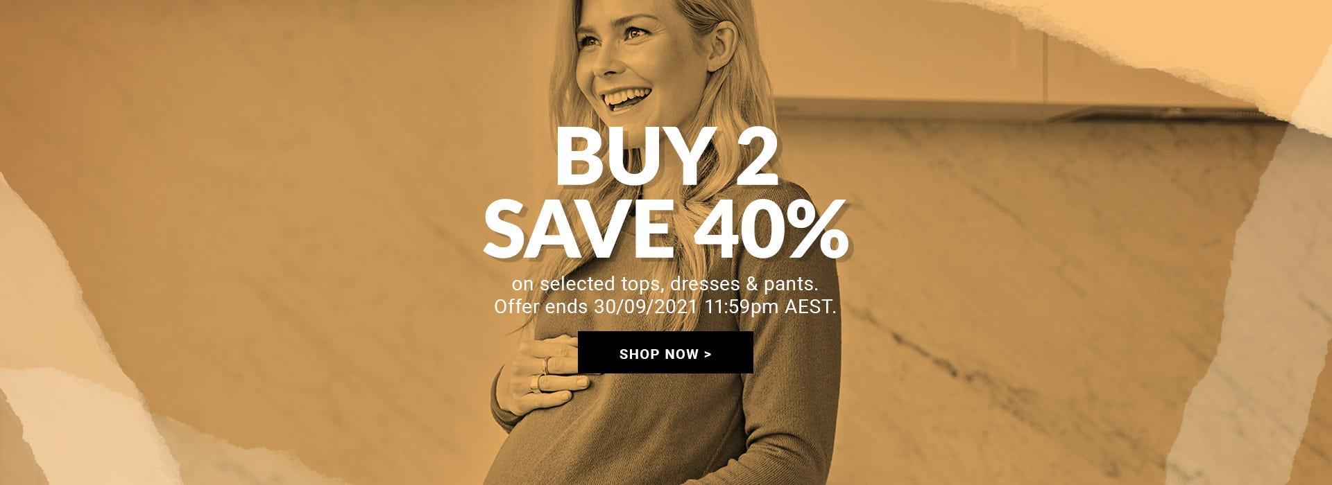 Buy 2, save 40% off clothing