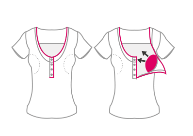 Unbutton & Pull Up Nursing Access