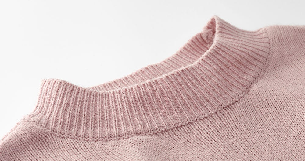 Knitted Maternity & Nursing Top with Turtle Neck