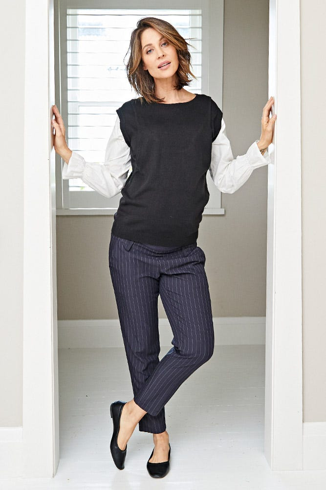 Double Layer Knitted Maternity & Nursing Top