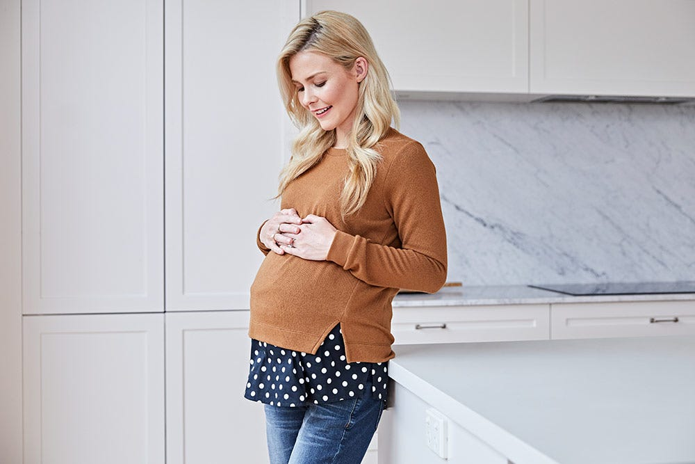 Double Layer Maternity & Nursing Top